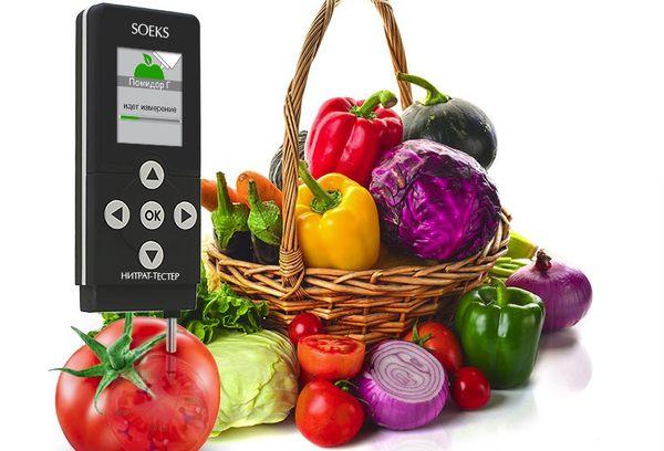 Нитрат-тестер и овощи