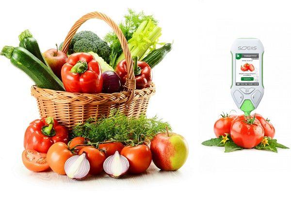 Измерение нитратов в фруктах и овощах нитрат-тестером